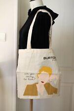 tote bag sac shopping cabas Burton - 2 faces différentes - coton écru - 40 x 40