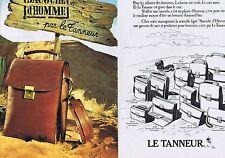 PUBLICITE ADVERTISING 035 1980 LE TANNEUR les sacoches (2 pages)