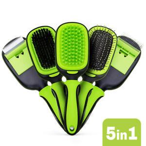 5pcs Dog Grooming Kit Brush Pet Hair Remover Trimmer Shedding Brush Massage Comb
