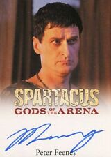 2012 SPARTACUS TRADING CARDS! Autograph PETER FEENEY as VARUS card