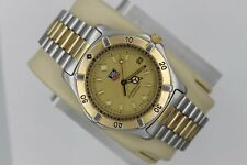 Tag Heuer 2000 Professional WE1120.BB0304 Watch Mens Gold WK1120 Mint Crystal