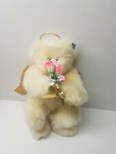 """Annette Funicello Teddy Plush Angel Angelic Bear Flowers Bouquet 16"""" With Tags"""