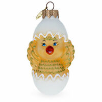 Baby Chick in Egg Glass Christmas Ornament