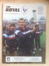 Reading v Aston Villa (Littlewoods Cup) Football Programme 1986/1987
