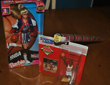 HAKEEM OLAJUWON HOUSTON ROCKETS DEAL: RARE 1992 POSTER, BARBIE & STARTING LINEUP
