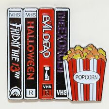 Horror Movie Enamel Pin Dead Halloween Gothic Punk Brooch 80s VHS Badge Lapel