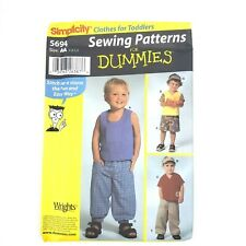 Simplicity Pattern · 5694 · Size AA 1/2 1 2 · Toddlers Pants Short Visor & Tops