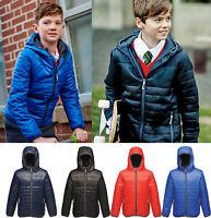 REGATTA STORMFORCE Kids Boys Girls Showerproof Thermal Jacket Coat with Hood