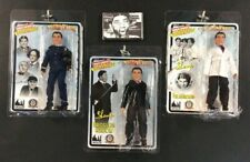 Three Stooges Shemp Meditation Tape + 3 Action Figure Scientist Police Groom Lot