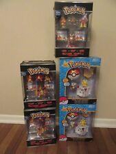 (3) TOMY Pokemon XY Mini Figure 4-Packs & (2) Throw 'N' Pop Poke Ball New NIB