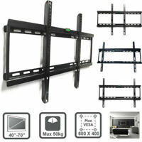 "LCD LED PLASMA FLAT TILT TV WALL MOUNT BRACKET for 40"" - 70"" TVs up to 110 lbs"