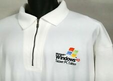 Vtg Fleece Sweater 1/4 Zip Jacket Microsoft Windows XP PC Tablet Edition Size XL