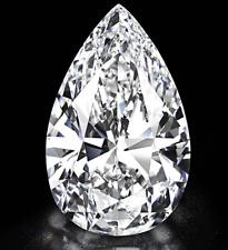 Loose Moissanite Stone Pear Brilliant Cut Near White Color Excellent Grade VVS1