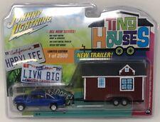 Johnny Lightning Tiny Houses 1996 Blue Dodge Ram 1500 with Tiny House (1/ 2500)