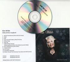 KIM WILDE Wilde Winter Songbook UK 12-trk promo test CD Rick Astley Nik Kershaw
