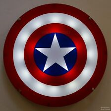 Captain America Shield LED Light Up With Sound Wall Art Lamp Plaque Poster Sign
