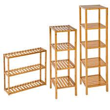 Bamboo Wooden Kitchen Bath Bathroom shelf rack Organiser unit storage