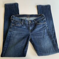 Citizen Of Humanity Ava Low Rise Straight Leg Jeans Size 26 Dark Wash EUC