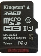 32GB Kingston Micro SD HC  Class 10 80MB/s + Adapter For Nintendo Switch Lite