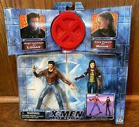 Wolverine & Rogue Vintage X-Men Movie Action Figures Set New 2000 Toybiz Logan