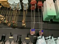 Lot Of 44 Fashion Jewelry Earrings, Necklaces, Chokers Wholesale USA Seller New