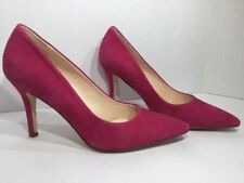 Nine West Women's Size 9.5 Hot Pink Suede Heels Pumps Shoes ZL-1932