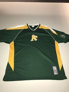 Majestic Oakland A's Green Short Sleeve Polyester Pullover  Mens Size Large