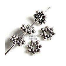 250 Intercalaires spacer Fleur 6.5x6.5x1.5mm Perles apprêts création bijoux A246