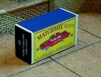 MATCHBOX 'REG. WHEELS' NO.59b FORD FAIRLANE 'FIRE CHIEF' CUSTOM DISPLAY BOX ONLY