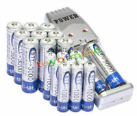 10 AA + 10 AAA 1000mAh 3000mAh 1.2V NI-MH BTY Rechargeable Battery + USB Charger