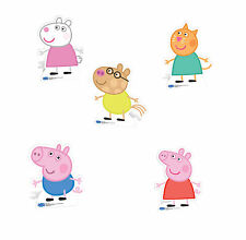Set of 5 Peppa Pig Large Stand up Party Photo Props Childrens Party Props