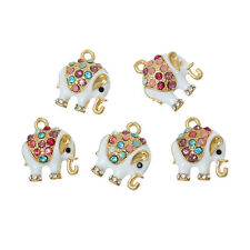 3 pieces Pendants Dangle Charms Gold plated Elephant jewelry findings DIY S81
