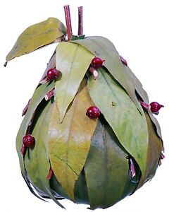 Leaf Twig Berry Pear Natural Green Country Fruit Craft Floral Decor Filler 635f