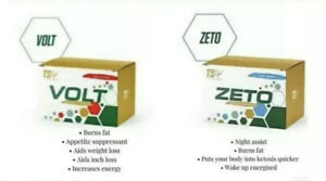 TS LIFE Volt & Zeto 20 capsules  10 Of each. NEW STOCK genuine for weightloss