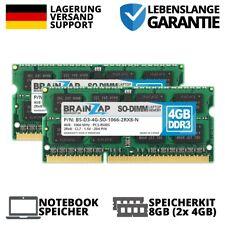 8GB (2x 4GB) DDR3 RAM SO-DIMM PC3-8500S 2Rx8 1066 MHz 1.5V Notebook Speicher CL7