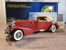 Franklin Mint 1933 Duesenberg J Victoria 1:24 Scale Diecast Car Limited Edition