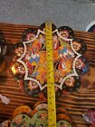 "TALAVERA MEXICAN POTTERY -trivets  BRIGHT HOT PLATES 7"""