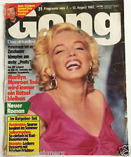 Marilyn Monroe Gong 1982 German Magazine Cover Niagara Dress * Cover Only *