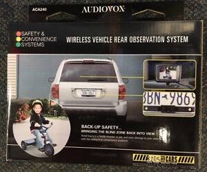 """BACK UP CAMERA 2.5"""" MONITOR, ACA240 WIRELESS CAR LICENSE PLATE REAR VIEW NEW!!"""