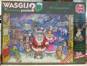 JUMBO WASGIJ NO.17 CHRISTMAS PUZZLE  ELF INSPECTION  2 X 1000 PIECES - BRAND NEW