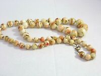 Vintage Confetti Lucite  Beaded Necklace
