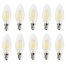 X10 LAMPADINA OLIVA 4W LED FILAMENTO E14 FIAMMA LAMPADA LUCE CALDA 2700K