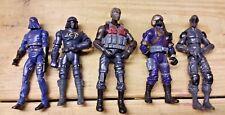 GI JOE Modern Lot of 5 Figures Hasbro ARAH Cobra Commander & more
