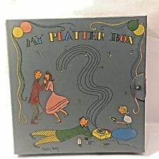 "Vtg BETTY BETZ ""My Platter Box"" Record Carry Case Storage Box Music Hath Charms"