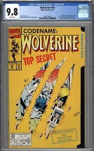 Wolverine #50 CGC 9.8 NM/MT Wolverine's Partial Origin Retold WHITE PAGES