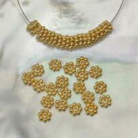Lot 20 Daisy Bali Spacer 4.0 mm Beads 1.70 g Gold Vermeil 24K on Sterling Silver