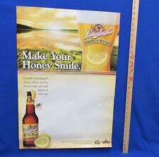 Leinenkugels Beer Poster Honey Weiss Area for Personalizing Specials Bar Home
