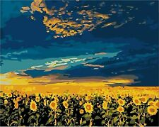 Diy oil painting paint by number kit- Sunflower vast 16*20 inch. Frameless