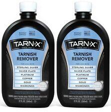 2 Tarn-X TARNISH REMOVER Silver Platinum Copper Gold Diamonds 12 oz Wipe & Rinse