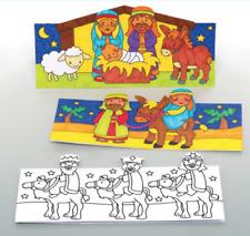 3 Pesebre Natividad Navidad Color su propio Pop-Up Tarjetas Manualidades De Niños Actividad